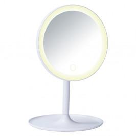 Biele kozmetické zrkadlo s LED podsvietením Wenko Turro