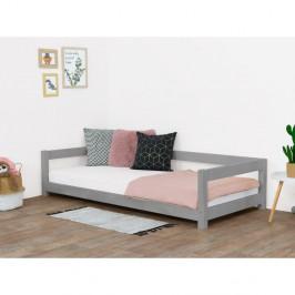 Sivá detská posteľ zo smrekového dreva Benlemi Study, 90 x 160 cm