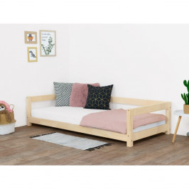 Prírodná detská posteľ zo smrekového dreva Benlemi Study, 90 x 200 cm