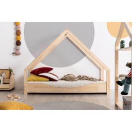 Domčeková detská posteľ z borovicového dreva Adeko Loca Elin, 100 x 150 cm
