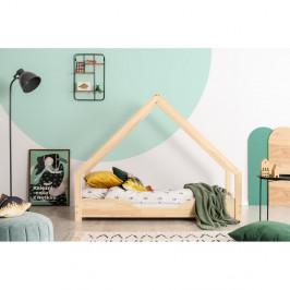 Domčeková detská posteľ z borovicového dreva Adeko Loca Bon, 80 x 170 cm