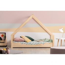 Domčeková detská posteľ z borovicového dreva Adeko Loca Dork, 70 x 200 cm