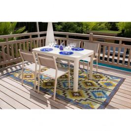 Súprava 4 záhradných stoličiek a jedálenského stola Ezeis Calypso