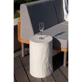 Biely záhradný odkladací stolík Ezeis Ecotop, ⌀ 35 cm