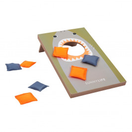 Set hracej dosky a vrecúška na hru cornhole Sunnylife Shark Attack