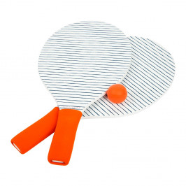 Set 2 rakiet a loptičiek na plážový tenis Sunnylife Pomelo & Indigo