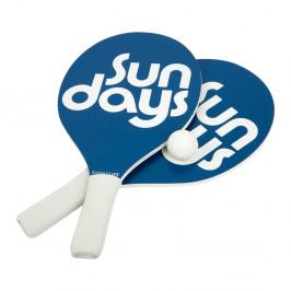 Set 2 rakiet a loptičiek na plážový tenis Sunnylife Indigo