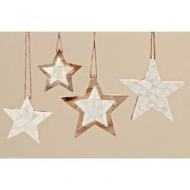 Sada 4 ks dekoratívnych hviezd Boltze Yvi