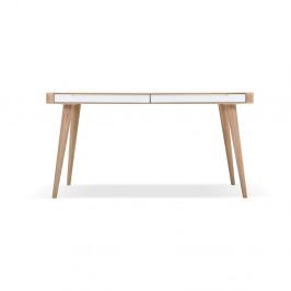 Jedálenský stôl z dubového dreva Gazzda Ena Two, 140×90×75 cm