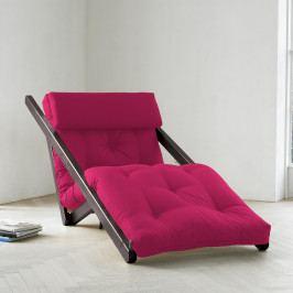 Leňoška Karup Figo, Wenge/Pink, 70 cm