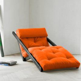 Leňoška Karup Figo Wenge / Orange,  70 cm