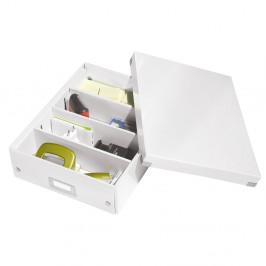 Biela škatuľa s organizérom Leitz Office, dĺžka 37 cm