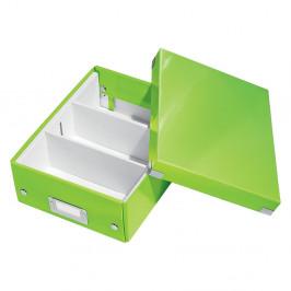 Zelená škatuľa s organizérom Leitz Office, dĺžka 28 cm
