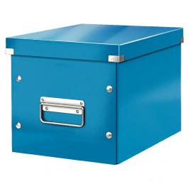 Modrá úložná škatuľa Leitz Office, dĺžka 26 cm