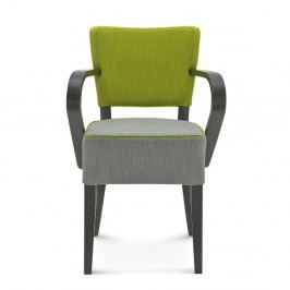 Sivo-zelená stolička Fameg Asulf