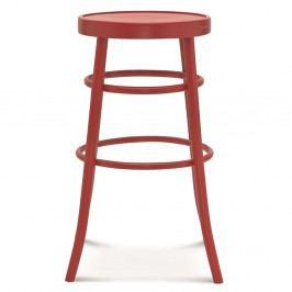 Červená barová drevená stolička Fameg Niels