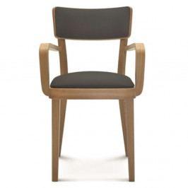 Drevená stolička s tmavosivým čalúnením Fameg Lone