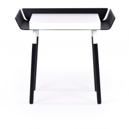 Čierno-biely písací stôl s 1 zásuvkou EMKO My Writing
