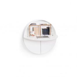 Biely multifunkčný nástenný stôl EMKO Pill