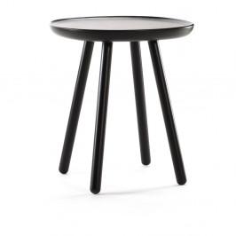 Čierny odkladací stolík z masívu EMKO Naïve Small