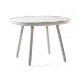 Sivý odkladací stolík z masívu EMKO Naïve Large