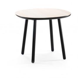 Čierny jedálenský stôl z masívu EMKO Naïve, 90cm