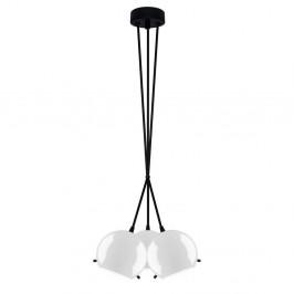 Čierno-biele lesklé závesné svetlo Sotto Luce MYOO Elementary 3BS