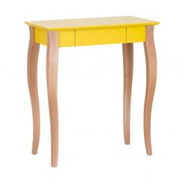 Žltý písací stôl Ragaba Lillo,dĺžka65cm