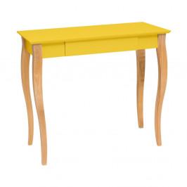Žltý písací stôl Ragaba Lillo,dĺžka 85cm