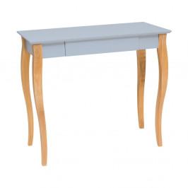 Svetlosivý písací stôl Ragaba Lillo,dĺžka85cm
