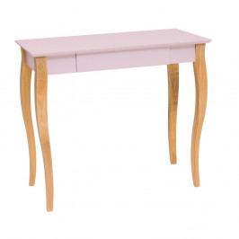 Ružový písací stôl Ragaba Lillo,dĺžka85cm