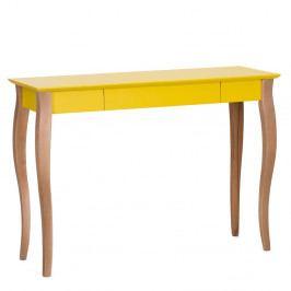 Žltý písací stôl Ragaba Lillo,dĺžka105cm