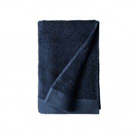 Modrá osuška z froté bavlny Södahl Indigo, 140 x 70 cm