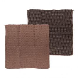 Súprava 2 ružovo-hnedých kuchynských utierok z bavlny Södahl, 30x30cm