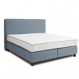 Modrá boxspring posteľ Revor Milano, 160×200cm