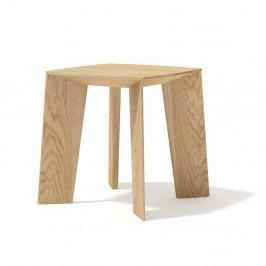 Konferenčný stolík z masívneho dubového dreva Javorina Tin Tin, 35cm