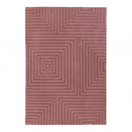 Fialový vlnený koberec Flair Rugs Estela, 120x170cm