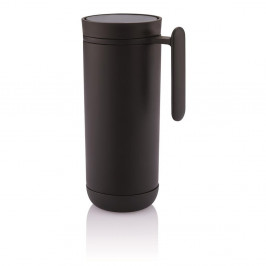 Čierny cestovný termohrnček s uchom XD Design Clik, 225ml