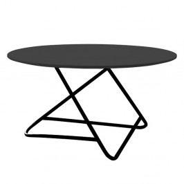 Čierny stôl Softline Tribeca, Ø75 cm