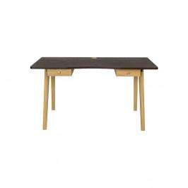Písací stôl s tmavosivou doskouWoodmanNice