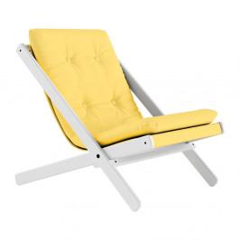Skladacie kreslo Karup Design Boogie White/Yellow