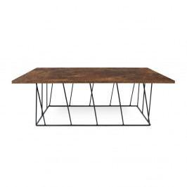 Hnedý konferenčný stolík s čiernymi nohami TemaHome Helix, 120cm