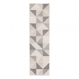 Sivo-ružový koberec Flair Rugs Urban Triangle, 60 x 220 cm