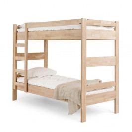 Ručne vyrobená poschodová posteľ zmasívneho brezového dreva Kiteen Kuusamo, 80×200cm
