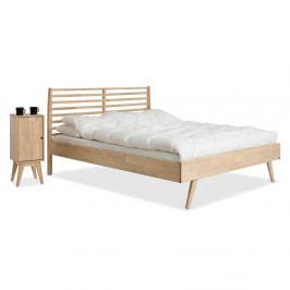 Ručne vyrobená posteľ zmasívneho brezového dreva KiteenNotte, 160×200cm