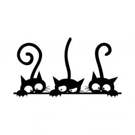 Sada 3 samolepiek Ambiance Funny Cats Trio