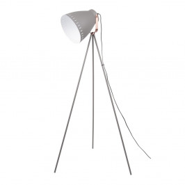 Sivá stojacia lampa s detailmi v medenej farbe Leitmotiv Mingle