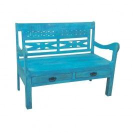 Modrá lavica z recyklovného dreva SOB Atlantic