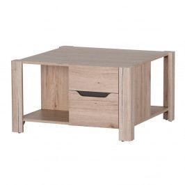 Konferenčný stolík v drevenom dekore s 2 zásuvkami Szynaka Meble Desjo