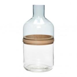 Fľaša s dreveným prsteňom Hübsch Darion